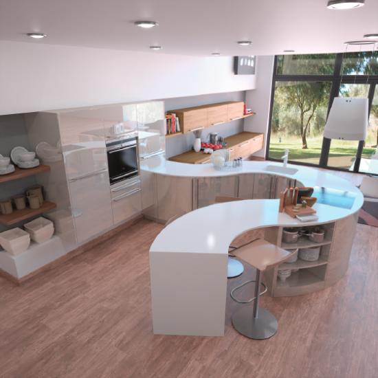 Emejing Cuisine Moderne Ronde Images - Design Trends 2017 ...