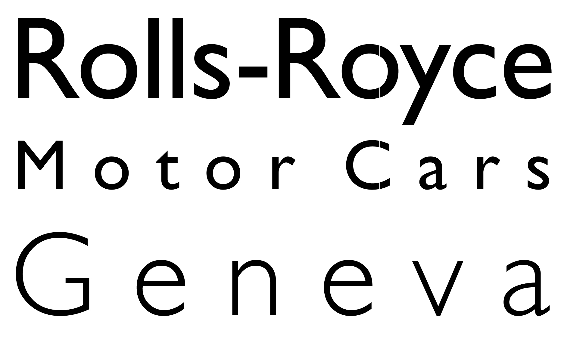 Rolls-Royce Motor Cars Geneva