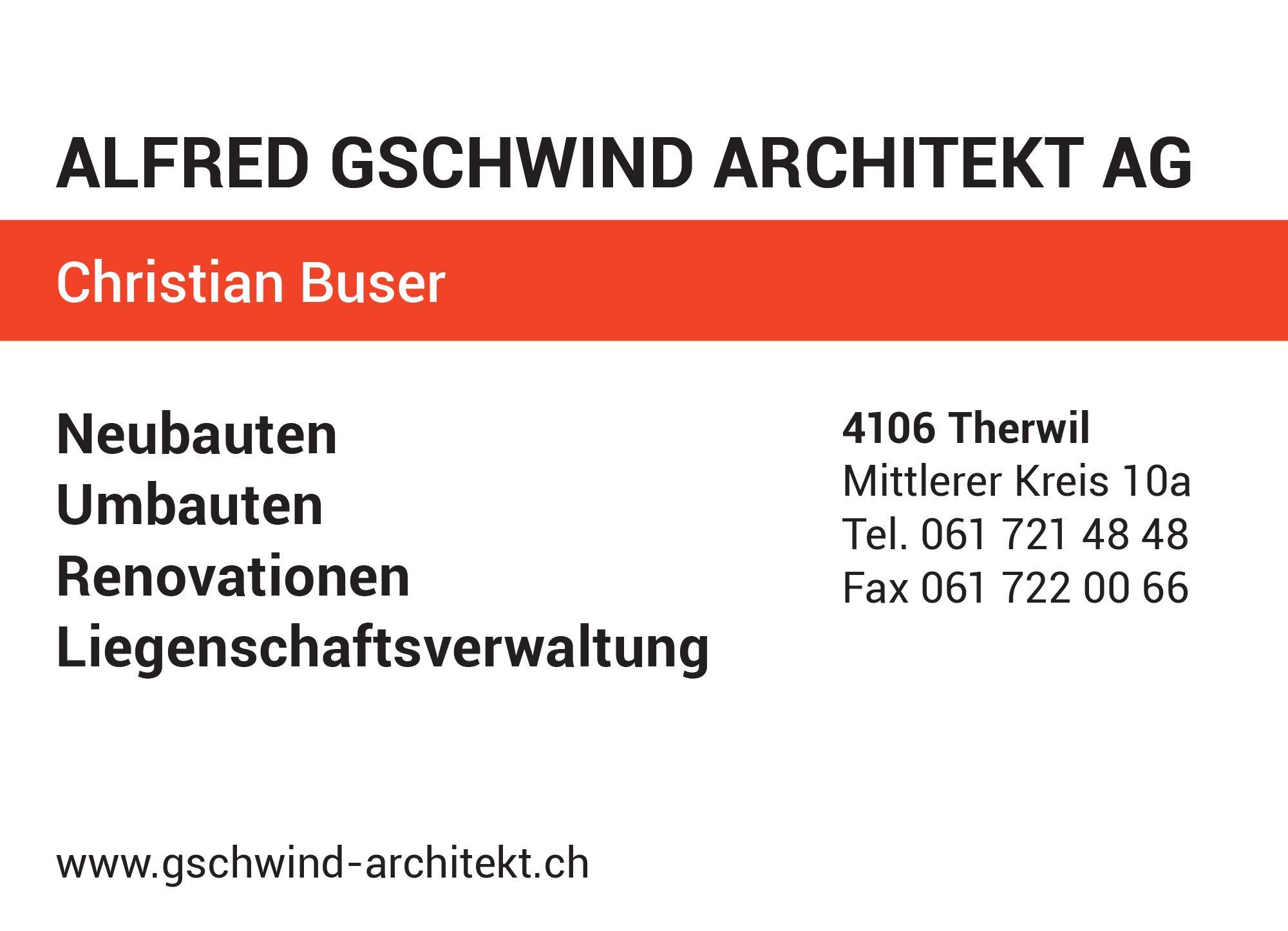 Gschwind Alfred Architekt AG